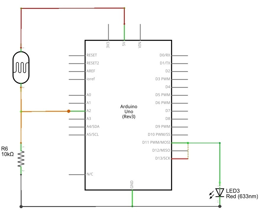 Photocell Ldr Sensor With Arduino Theorycircuit Do It Yourself Electronics Projects
