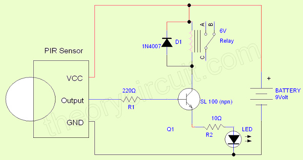 Simple Pir Sensor Circuit