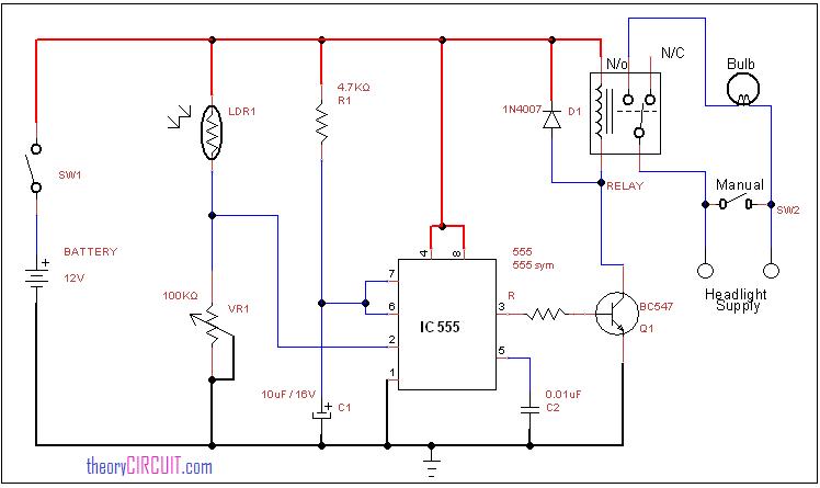 Automatic Headlight circuittheoryCIRCUIT