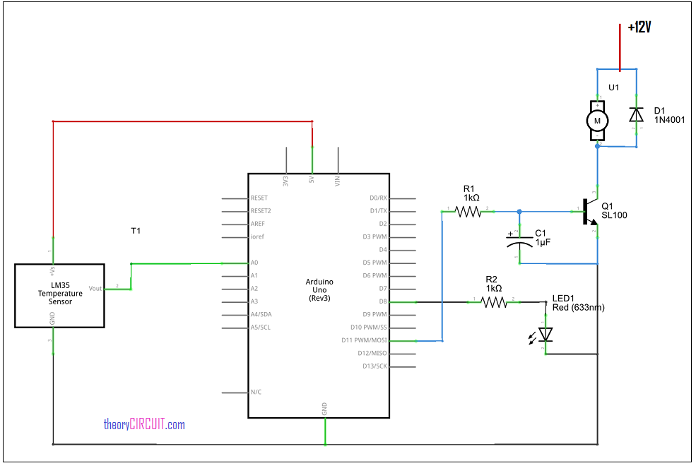Automatic Fan Speed Control Circuit By Arduino