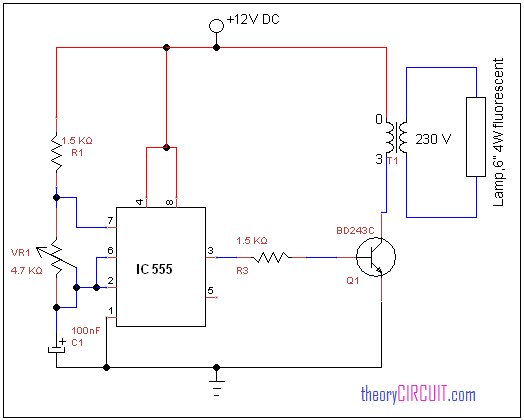 Fluorescent Lamp Driver Circuit Diagram