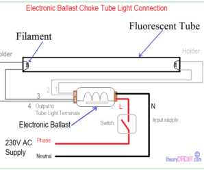 Double Fluorescent Light Wiring Diagram from theorycircuit.com