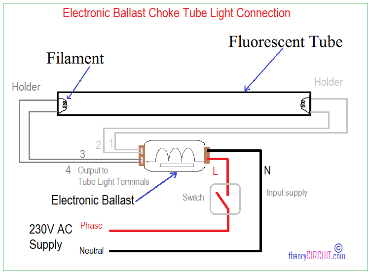Tube Light Connection Diagram
