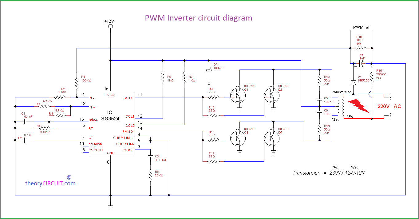Inverter Wiring Diagram from theorycircuit.com