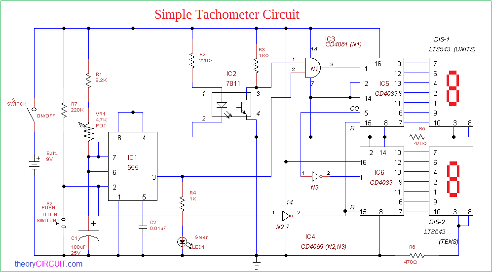 Simple Tachometer Circuit
