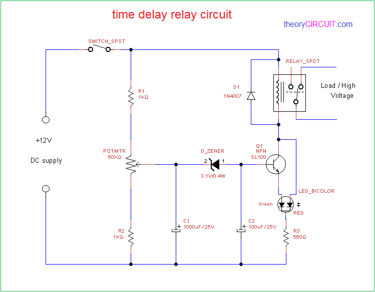 Download Power On Delay Circuit Diagram Background      Best