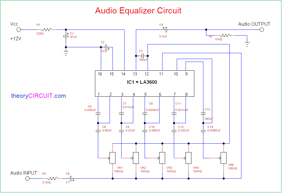 Audio Equalizer CircuittheoryCIRCUIT