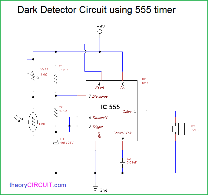 Darkness Detector Circuit