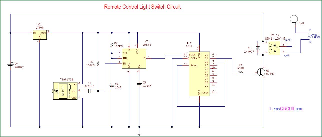 Ir Remote Control Light Switch