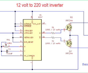9v To 220v Inverter Circuit Diagram Archives Theorycircuit Do It Yourself Electronics Projects