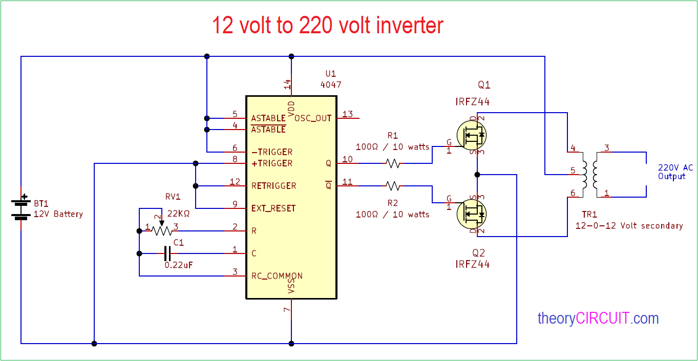 12 Volt To 220 Volt Inverter