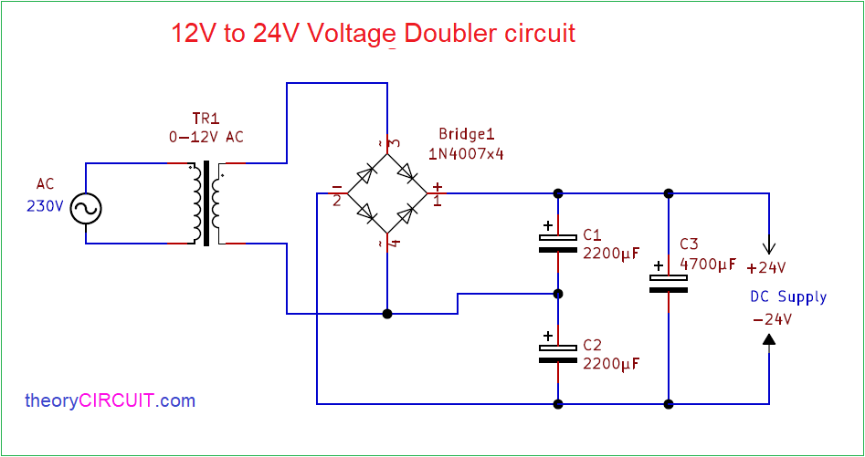 12v To 24v Voltage Doubler