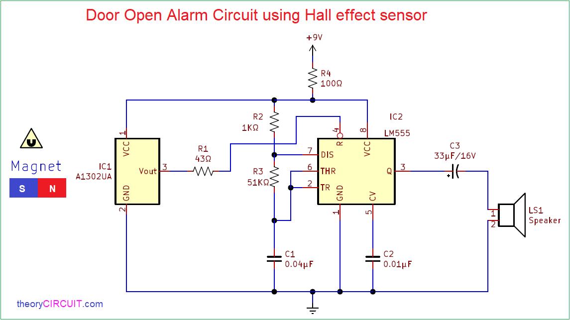 Hall Effect Sensor Wiring Diagram from theorycircuit.com