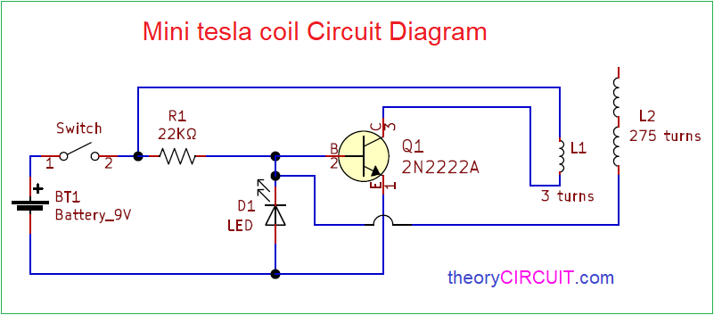 Tesla Coil Wiring Diagram from theorycircuit.com