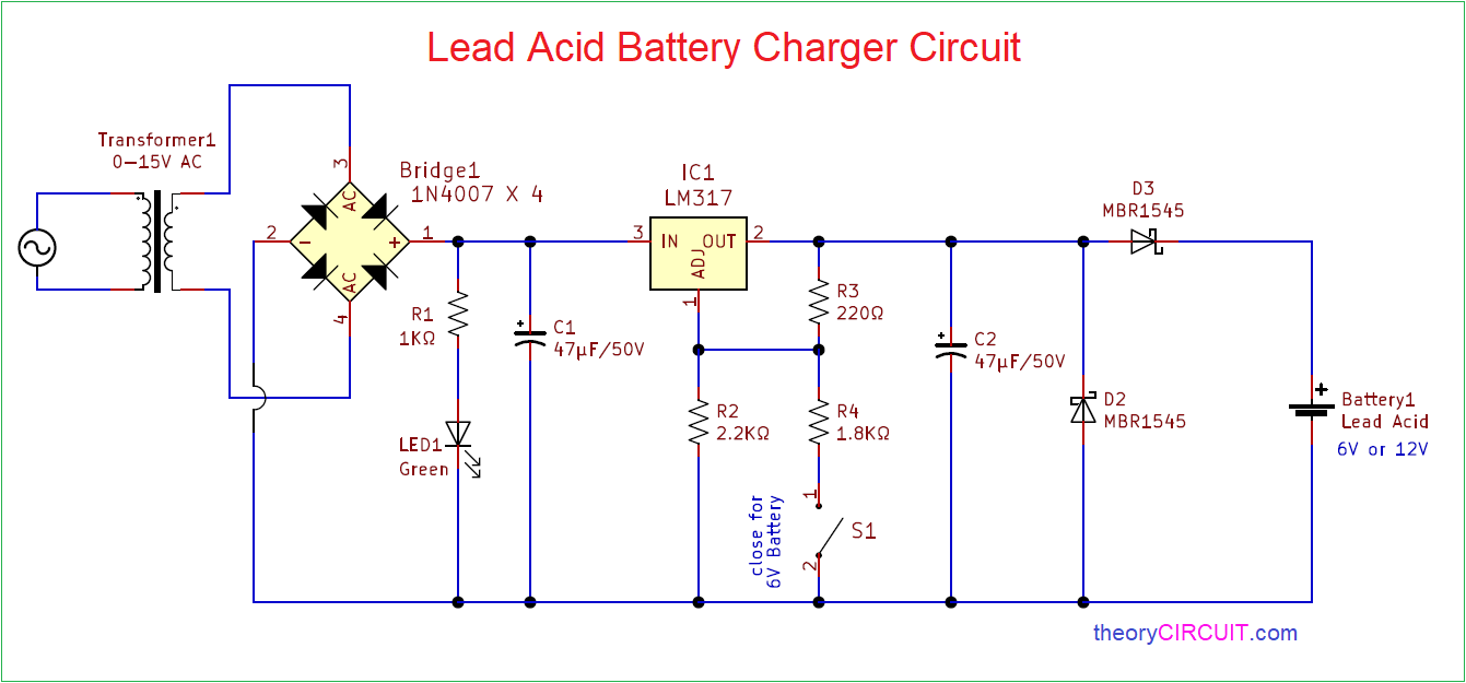 Lead Acid Battery Charger Circuit