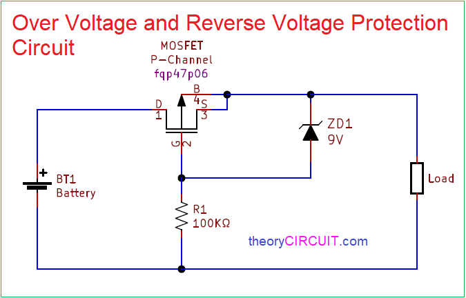 Over Voltage And Reverse Voltage Protection Circuit