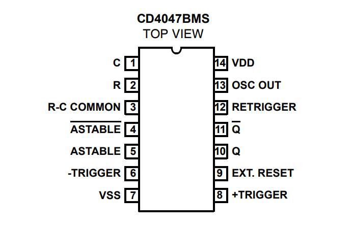ic 4047 pin details - theorycircuit