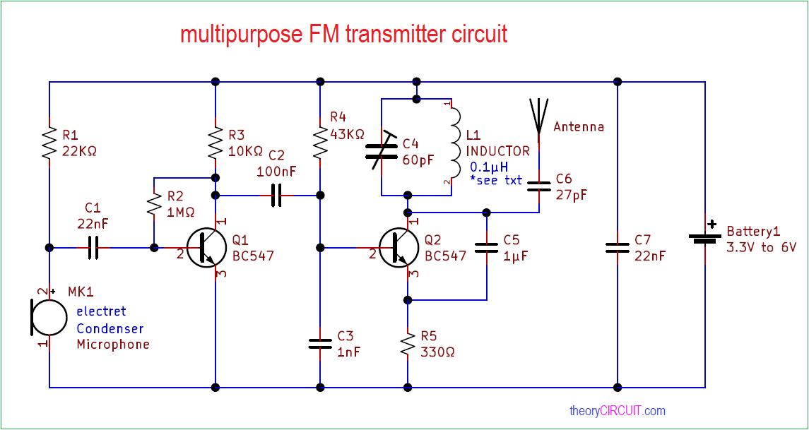 multipurpose FM transmitter circuittheoryCIRCUIT
